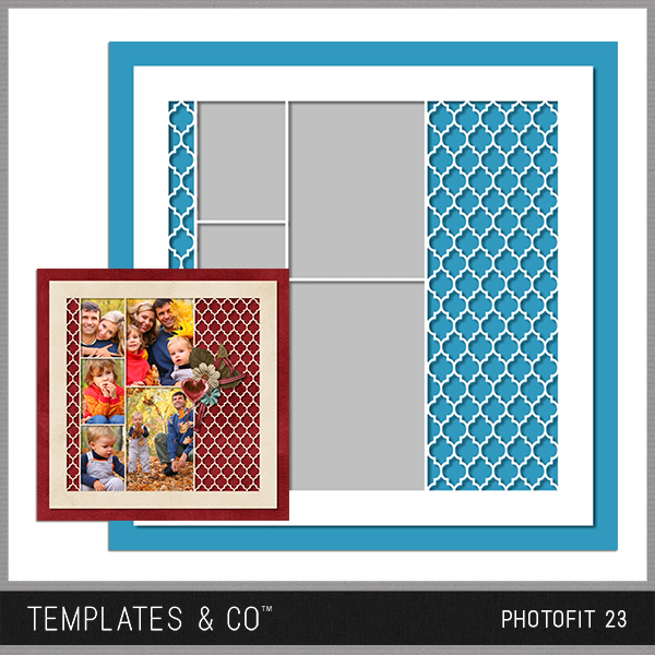 Photofit 23 Digital Art - Digital Scrapbooking Kits