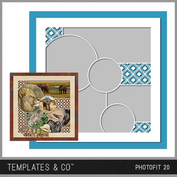 Photofit 20 Digital Art - Digital Scrapbooking Kits