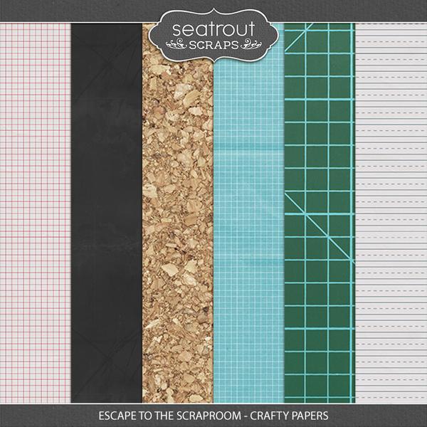 Escape to the Scraproom Crafty Papers Digital Art - Digital Scrapbooking Kits