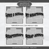 Escape to the Scraproom Templates