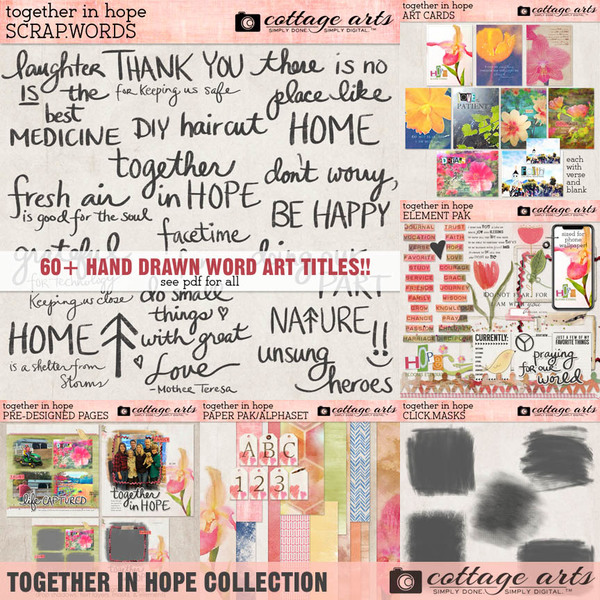 Together in Hope Collection Digital Art - Digital Scrapbooking Kits