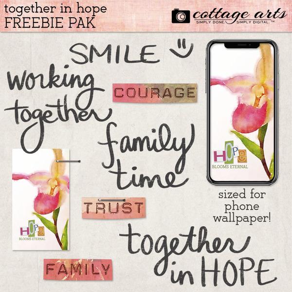 Together in Hope Freebie Pak Digital Art - Digital Scrapbooking Kits