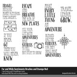Far and Wide Sentiments Brushes and Stamps No. 03