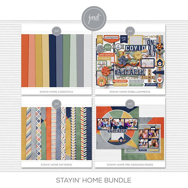 Stayin' Home Bundle Digital Art - Digital Scrapbooking Kits