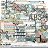 Far and Wide Travel Scrapbook Kit