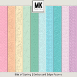 Bits of Spring -  Embossed Edge Papers