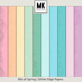 Bits of Spring -  Glitter Edge Papers