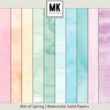 Bits of Spring -  Watercolor Solid Papers