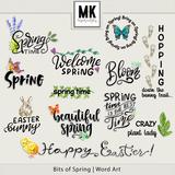 Bits of Spring -  Word Art
