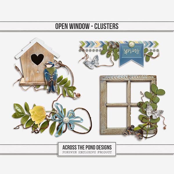 Open Window  - Clusters Digital Art - Digital Scrapbooking Kits