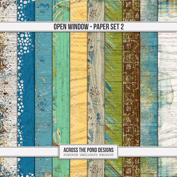 Open Window  - Paper Set 2 Digital Art - Digital Scrapbooking Kits
