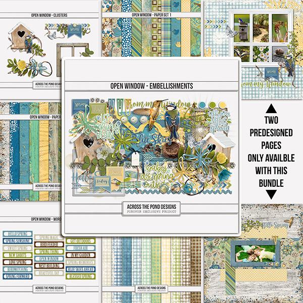 Open Window  - Bundle Digital Art - Digital Scrapbooking Kits