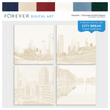 City Break - Houston -  Cityscape & Solid Papers
