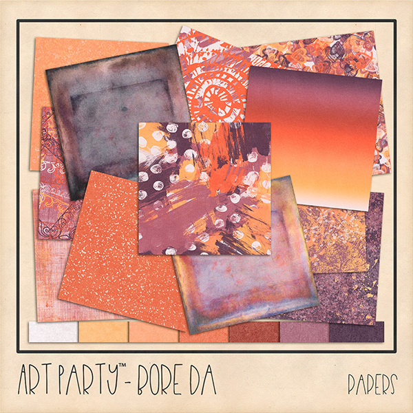 Bore Da Papers Digital Art - Digital Scrapbooking Kits