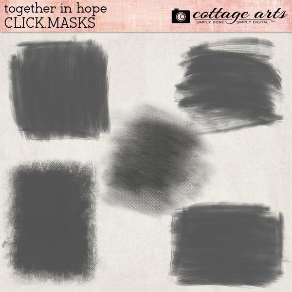 Together in Hope Click.Masks Digital Art - Digital Scrapbooking Kits