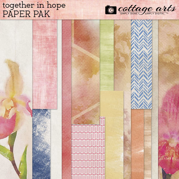 Together in Hope Paper Pak Digital Art - Digital Scrapbooking Kits