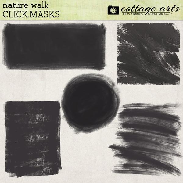 Nature Walk Click.Masks Digital Art - Digital Scrapbooking Kits