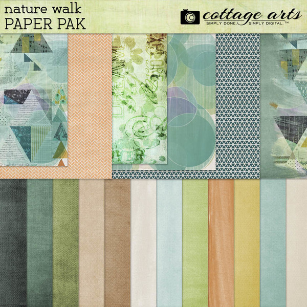 Nature Walk Paper Pak Digital Art - Digital Scrapbooking Kits