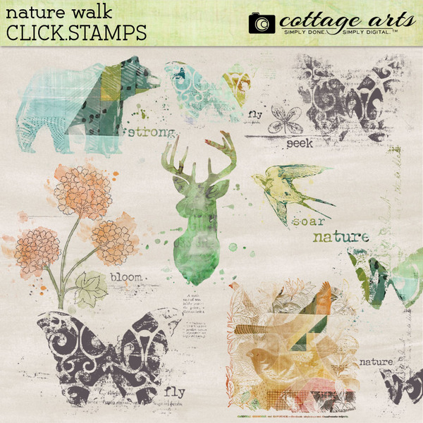 Nature Walk Click.Stamps Digital Art - Digital Scrapbooking Kits