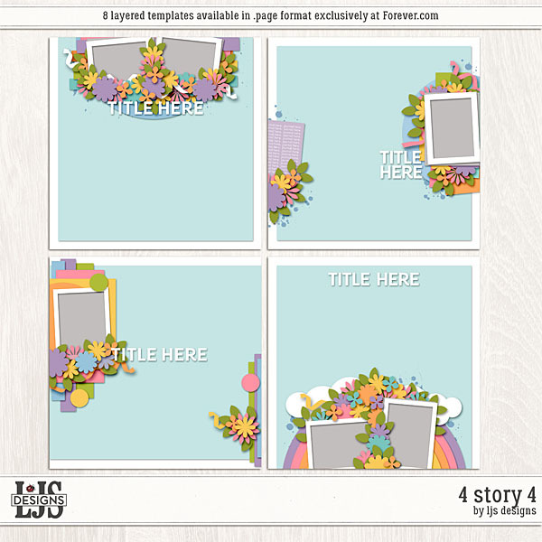 4 Story 4 Digital Art - Digital Scrapbooking Kits