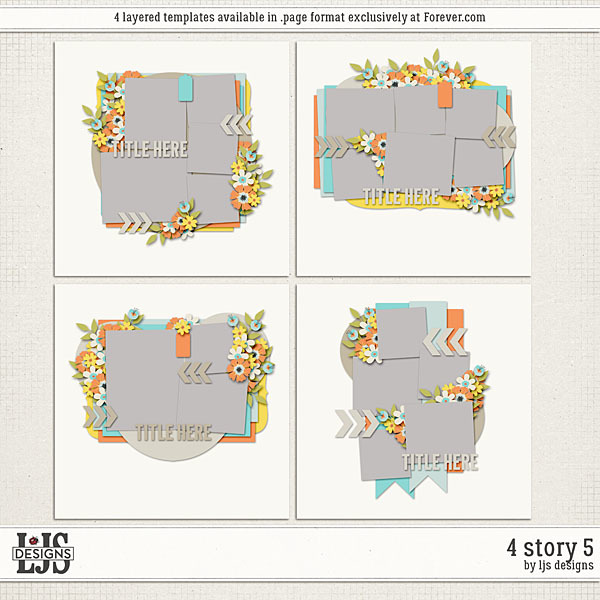 4 Story 5 Digital Art - Digital Scrapbooking Kits