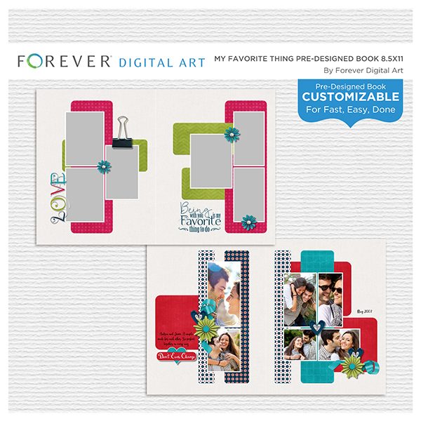 My Favorite Thing Pre-designed Book 8.5x11 Digital Art - Digital Scrapbooking Kits