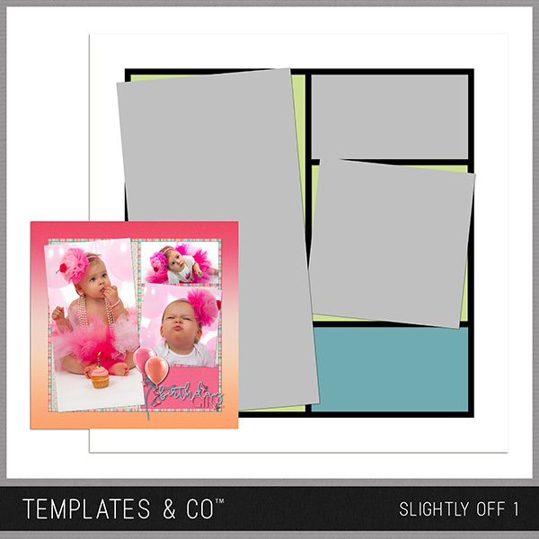 Slightly Off 1 Digital Art - Digital Scrapbooking Kits
