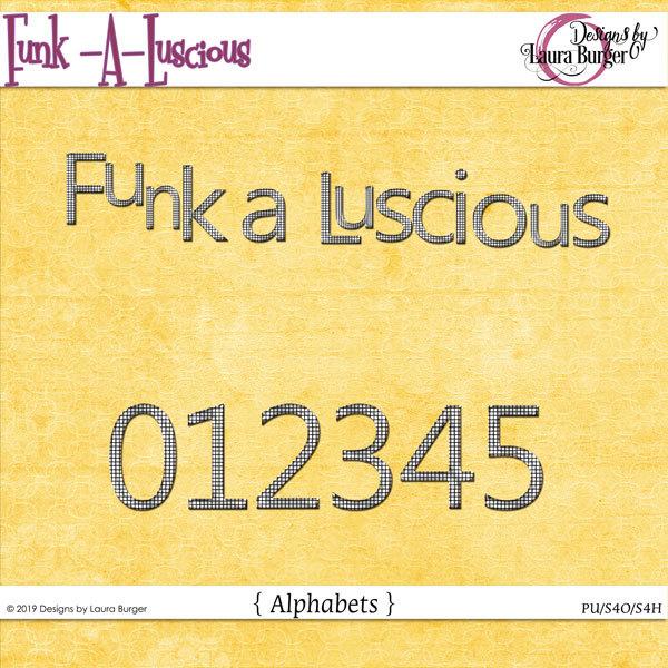Funkaluscious Alphabet Set Digital Art - Digital Scrapbooking Kits