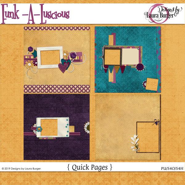 Funkaluscious Quickpages Digital Art - Digital Scrapbooking Kits