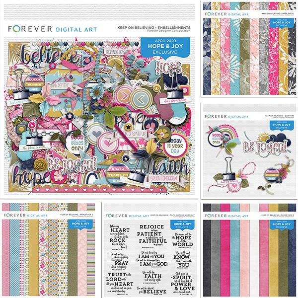 Keep On Believing Digital Art - Digital Scrapbooking Kits