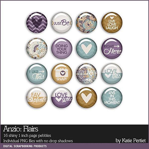 Anzio Flairs Digital Art - Digital Scrapbooking Kits