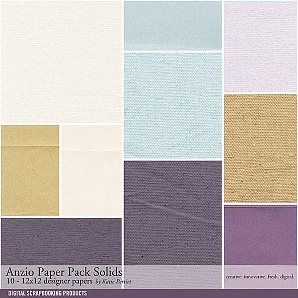 Anzio Solids Paper Pack Digital Art - Digital Scrapbooking Kits