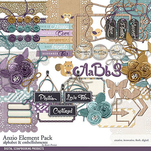Anzio Element Pack Digital Art - Digital Scrapbooking Kits