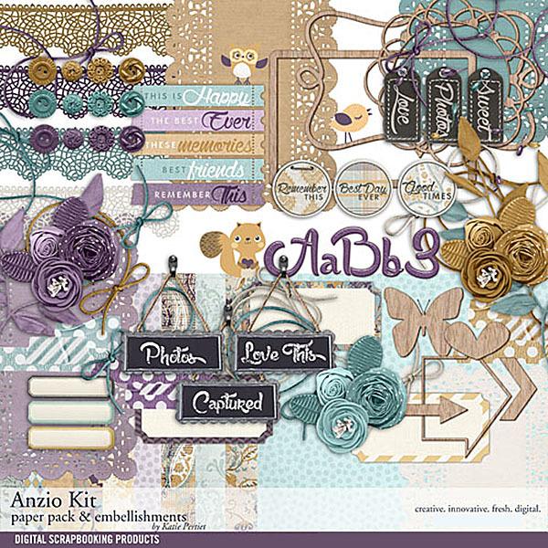 Anzio Scrapbooking Kit Digital Art - Digital Scrapbooking Kits