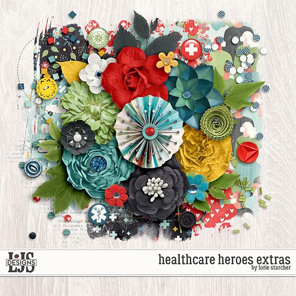 Healthcare Heroes Extras Digital Art - Digital Scrapbooking Kits