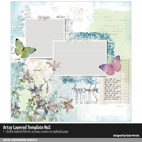 Artsy Layered Template No. 02 Digital Art - Digital Scrapbooking Kits