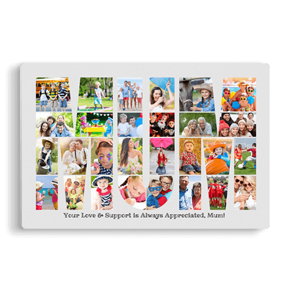 Mum Word Collage Panel Panel