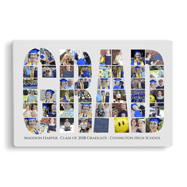 Grad Word Collage Panel Panel
