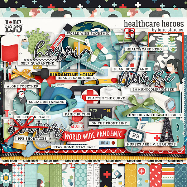 Healthcare Heroes Digital Art - Digital Scrapbooking Kits