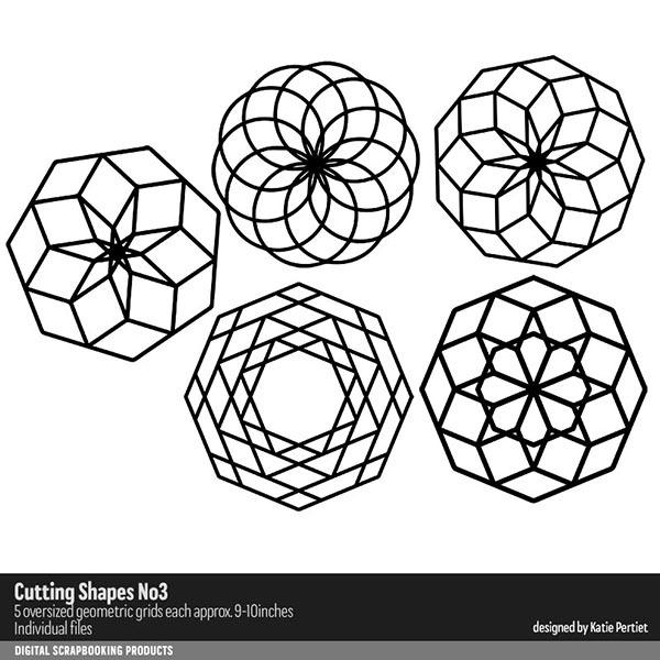 Cutting Shapes No. 03 Digital Art - Digital Scrapbooking Kits