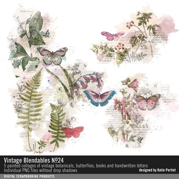 Vintage Blendables No. 24 Digital Art - Digital Scrapbooking Kits