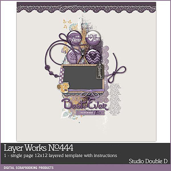 Layer Works No. 444 Digital Art - Digital Scrapbooking Kits
