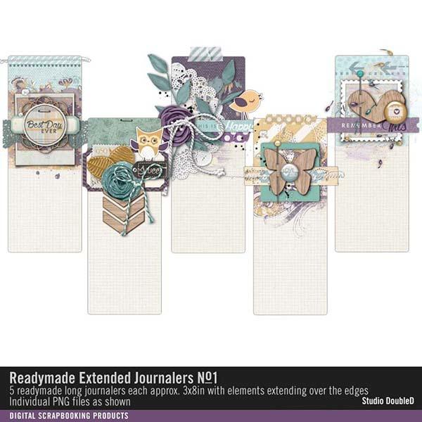 Readymade Extended Journalers No. 01 Digital Art - Digital Scrapbooking Kits