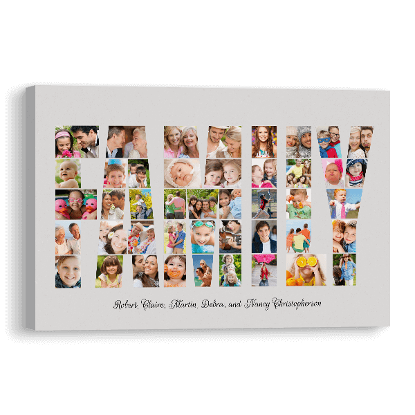 Family Word Collage Canvas Canvas