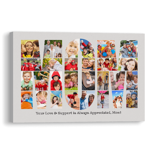 Mom Word Collage Canvas Canvas