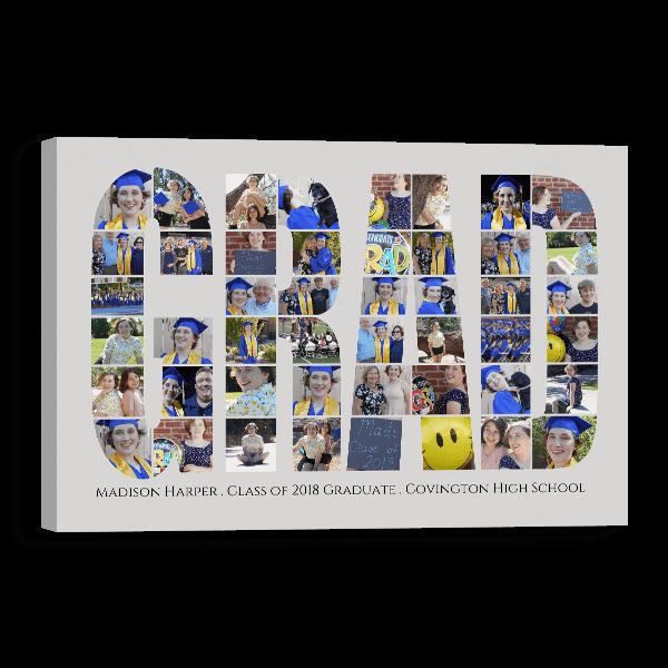 Grad Word Collage Canvas Canvas
