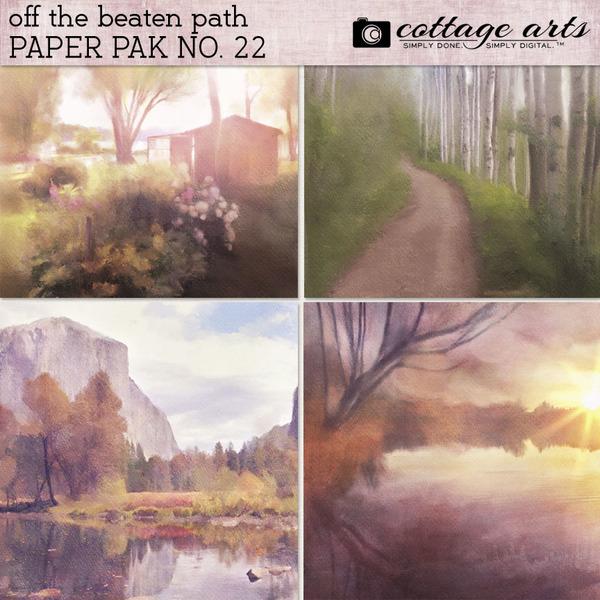Off the Beaten Path 22 Paper Pak Digital Art - Digital Scrapbooking Kits