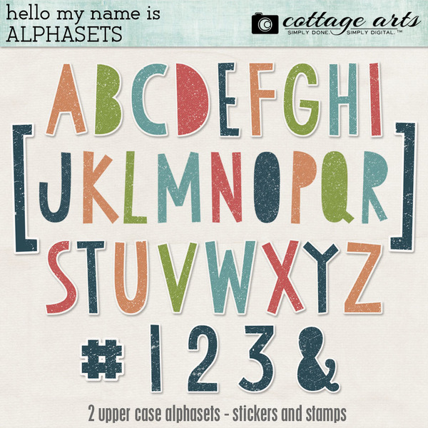 Hello My Name Is AlphaSets Digital Art - Digital Scrapbooking Kits