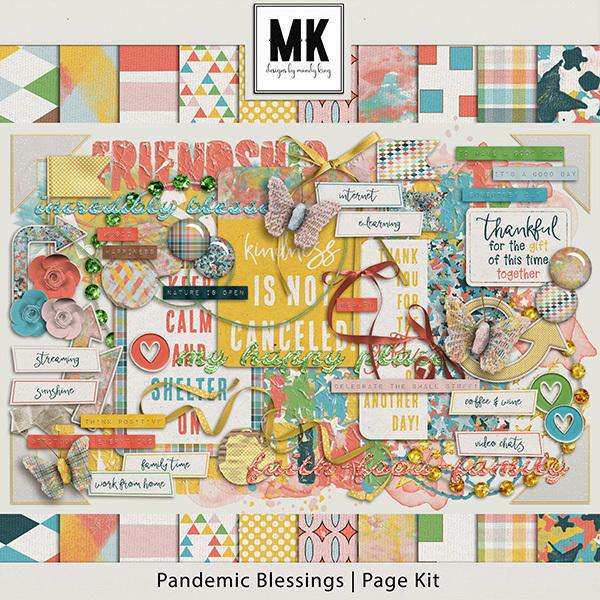Pandemic Blessings Page Kit Digital Art - Digital Scrapbooking Kits
