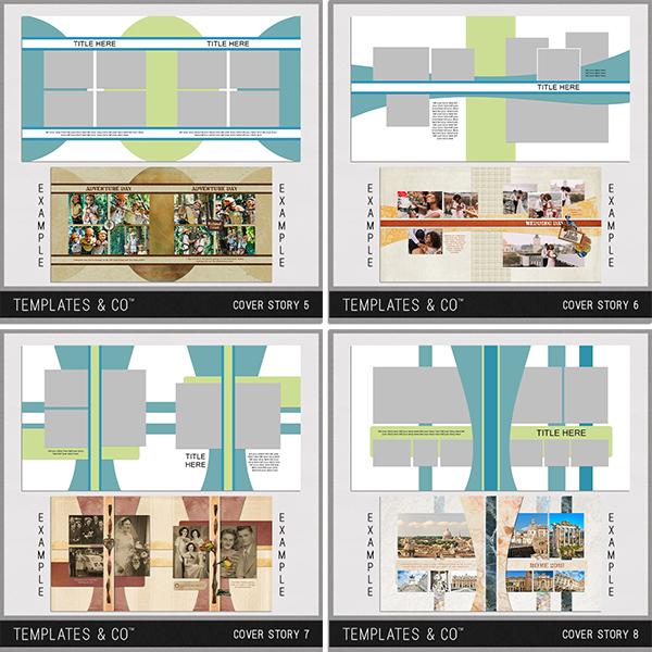 Cover Story 5-8 Digital Art - Digital Scrapbooking Kits